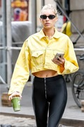 Elsa Hosk - Leaving the gym in NYC 6/11/18
