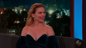Hayley Atwell on Jimmy Kimmel Live! in Hollywood - 7/30/18