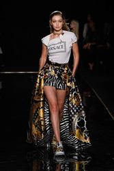 Gigi Hadid - Versace Pre-Fall 2019 Fashion Show in NYC 12/2/18