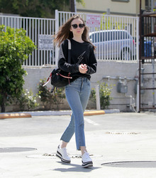 Lily Collins - Out in Studio City 4/24/18