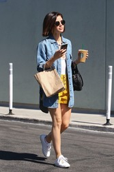 Lucy Hale - Leaving Starbucks in LA 7/24/18