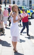 Amanda Holden -                      Horsedrawn Carriage Ride Her Royal Wedding Correspondent Role Windsor May 14th 2018.