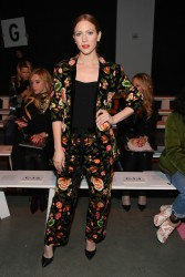 Brittany Snow - Naeem Khan Fashion Show in NYC 2/13/18