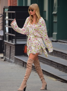 Taylor Swift - wearing sexy boots out and about in NYC - 07/15/18