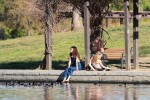 Selena Gomez at Lake Balboa park in Encino 02/02/2018614e7d737644293