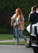 Isla Fisher - On set of 'The Starling' in Studio City 5/21/18