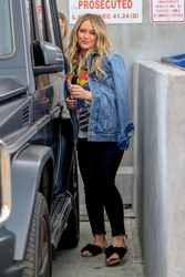 Hilary Duff - Leaving Nine Zero One Salon in West Hollywood 3/21/19