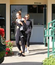 Selena Gomez at a Gym in Los Angeles - 12/19/17