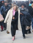 """Hilary Duff - Filming """"Younger"""" in Brooklyn 2/26/19"""