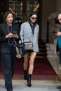 Shay Mitchell - Leaving her hotel in Paris 10/2/18