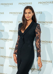 Irina Shayk - Pronovias Fitting Photocall during Barcelona Bridal Week 2018 4/22/18