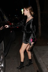 Delilah Belle Hamlin - Leaving Delilah Club in West Hollywood 12/31/17