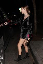 Delilah Belle Hamlin - Leaving Delilah Club in West Hollywood 12/31/17