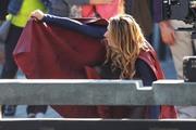 Melissa Benoist - Filming 'Supergirl' in Vancouver 9/5/18