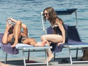 Lily Collins - Swimsuit candids in Italy 7/16/18