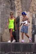 Hailey Baldwin - Bikini candids in Italy 9/21/18
