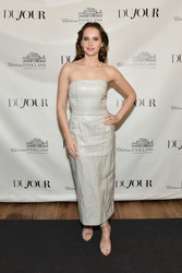 Felicity Jones - DuJour Winter Issue Celebration in NYC 12/17/18