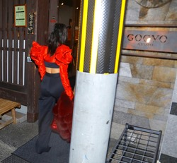 Kourtney Kardashian - Having dinner in Tokyo 3/2/18