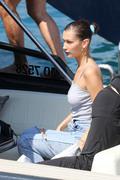 Bella Hadid boarding a yacht in Monaco 05/25/2018a40e56876374234