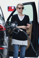 Emma Roberts - At a gas station in LA 3/13/18