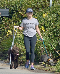 Reese Witherspoon - Taking her dogs out for a walk in LA 10/29/2018