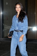 Shanina Shaik  - Leaving Victoria's Secret Offices in NYC 11/6/18