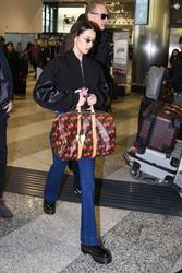 Bella Hadid - Leaving Milan, Italy 1/13/19