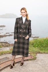 Lily James - 'The Guernsey Literary and Potato Peel Pie Society' Photocall in Guernsey 4/12/18