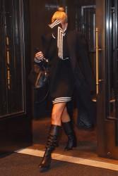 Hailey Baldwin - Leaving a hotel in NYC 2/10/18