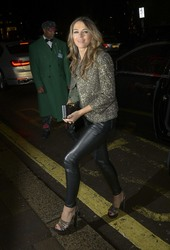 Elizabeth Hurley - At Annabels Private Members Club in London 12/5/18