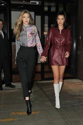 Gigi & Bella Hadid - Leaving Gigi's apartment in NYC 1/11/18