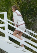 Lily-Rose Depp - On set of a photoshoot at the beach in Malibu 4/4/18