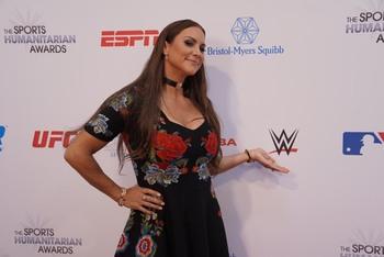 Stephanie McMahon - Big Boobs In Black Dress At The 2019 ESPN Humanitarian Awards