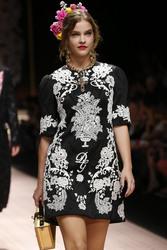 Barbara Palvin - Dolce & Gabbana Fashion Show in Milan 9/23/18