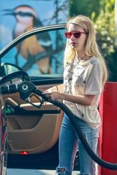 Emma Roberts - At a gas station in Los Feliz 9/23/18