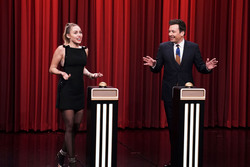 Miley Cyrus - The Tonight Show with Jimmy Fallon in NYC 12/13/18