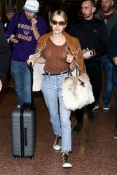 Emma Roberts - Arriving in Salt Lake City 1/25/19