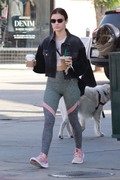 Lucy Hale - Leaving Starbucks in Studio City 9/21/18
