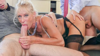 Marina Beaulieu (Busty French mature Marina Beaulieu enjoys anal sex with DP in threesome / 2018-01-18) 1080p