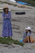 Alessandra Ambrosio - At the beach in Malibu 5/6/18