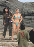 Joanna Krupa - Bikini candids on set of a photoshoot in Malibu 5/13/18