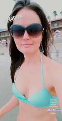 Danica McKellar at a Beach in La Jolla, California - 8/25/18 Instagram Video