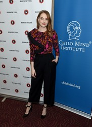 Emma Stone - Great Minds Think Unalike: A Conversation With Emma Stone And Dr. Harold S. Koplewicz in NYC 10/1/18