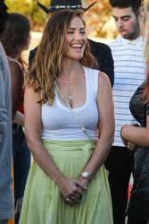 Minka Kelly - Arriving at The Forum in LA 7/14/18