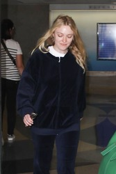 Dakota Fanning - At LAX Airport 8/8/18