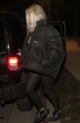 Kim Kardashian - Out for dinner in LA 2/12/18