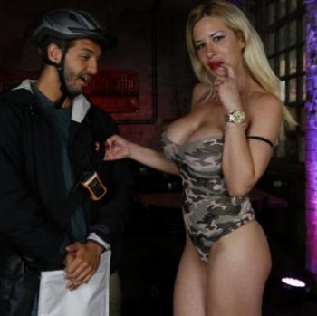 Manu Magnum - Busty German porn star Manu Magnum blows and fucks random amateur guy (2017) 720p