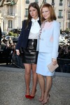 Lea Seydoux and Adele Exarchopoulos at the Miu Miu show during Paris Fashion Week 3/5/14