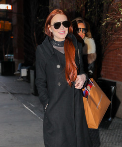 Lindsay Lohan - Out in NYC 1/2/19