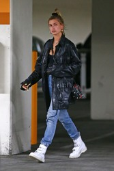 Hailey Baldwin - Leaving the Montage hotel in Beverly Hills 4/18/18